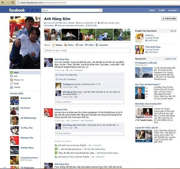 Tay không truy cập facebook !