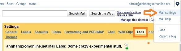 Gmail : Xem mail mà không cần chuyển sang trang mới !