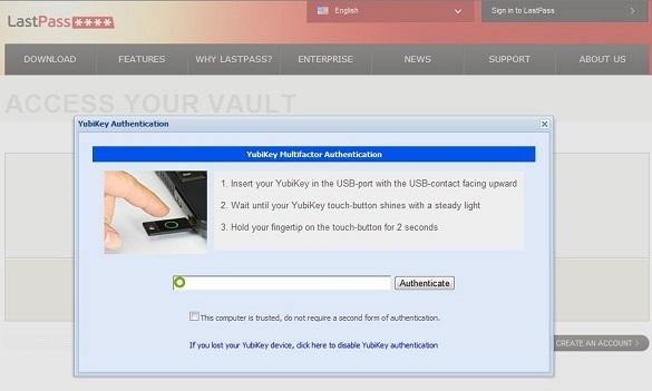 YubiKey + LastPass : Sự kết hợp hoàn hảo