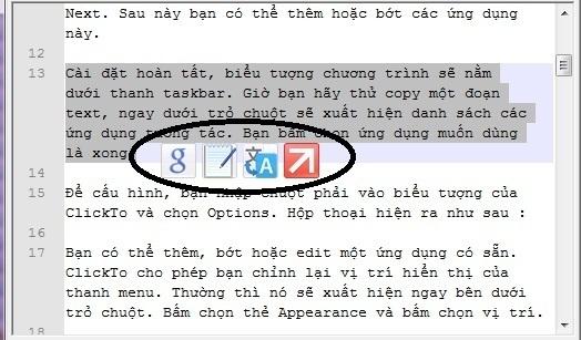 ClickTo - Công cụ hợ trợ cho những ai hay xài copy và paste