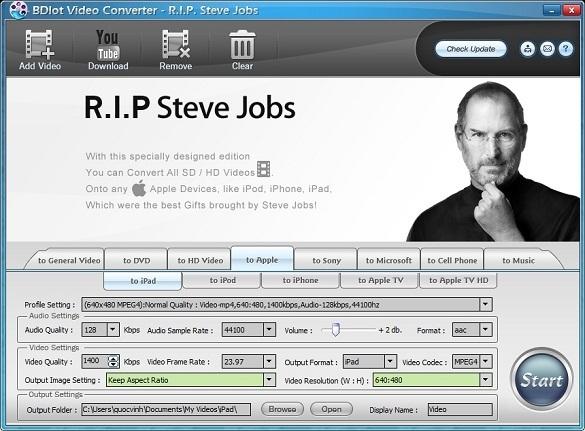 BDlot DVD Clone Ultimate - Phiên bản đặc biệt tưởng nhớ Steve Jobs