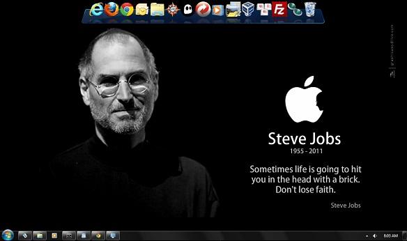 iSteve - Theme về Steve Jobs cho Windows 7