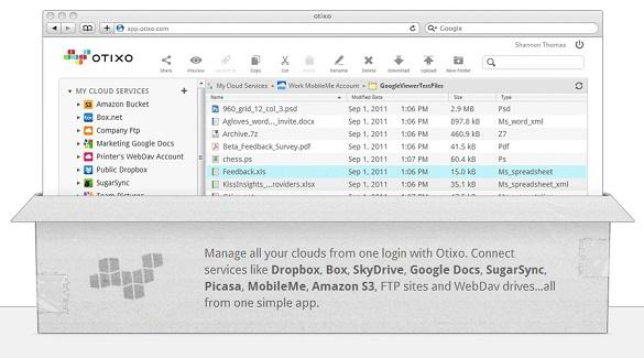 Otixo - Quản lý tập trung các dịch vụ Dropbox, Box, SugarSync, GoogleDocs, SkyDrive...
