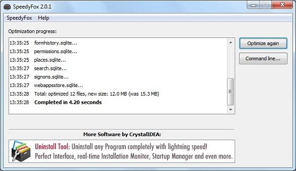 SpeddyFox - Tăng tốc Firefox, Skype, Chrome và Thunderbird