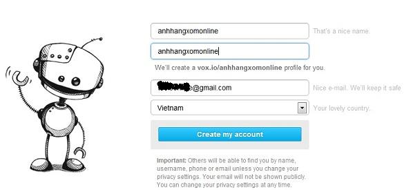 Vox.io - Dịch vụ chat voice miễn phí