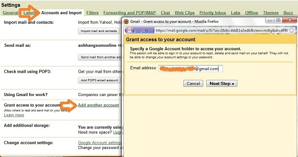 Gmail Grant Access