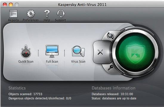 Kaspersky Antivirus 2011 For MacOS - Nhận key bản quyền 6 tháng miễn phí