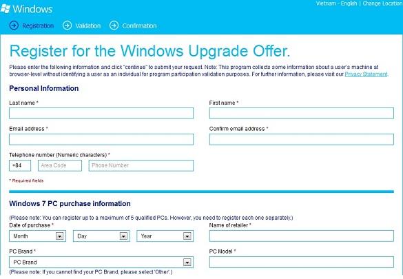 Nâng cấp Win7 lên Windows 8 Pro với giá $14.99