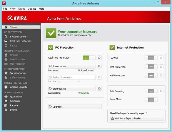 Avira Free Antivirus 2013 phát hành