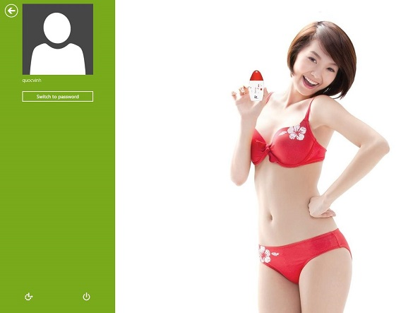Dùng hình ảnh đăng nhập Windows 8