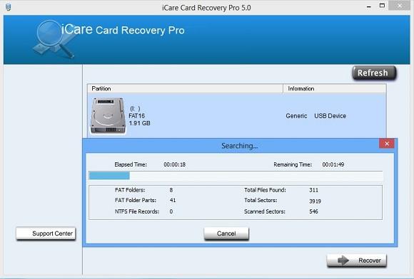 iCare Card Recovery Pro 5.0 - Phần mềm phục hồi dữ liệu trên thẻ nhớ xuất sắc