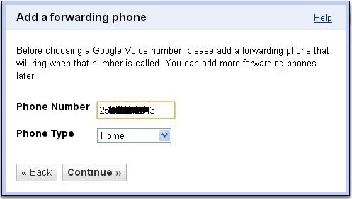 Đăng ký nhận số điện thoại Google Voice