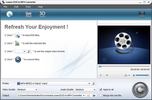 Leawo DVD to MP4 Converter - Nhận key bản quyền miễn phí phần mềm chuyển đổi video