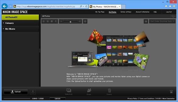 Nikon Image Space - Dịch vụ lưu trữ và chia sẻ ảnh miễn phí