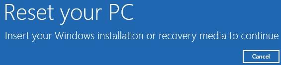 Refresh và Reset Windows 8 không cần dùng đĩa cài đặt