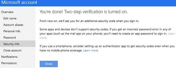 Microsoft chính thức cung cấp bảo mật 2 lớp cho hộp mail