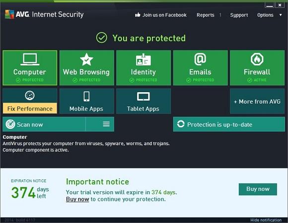 AVG Internet Security 2014 - Nhận key bản quyền 1 năm miễn phí
