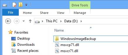 Sao lưu và phục hồi hệ thống trong Windows 8
