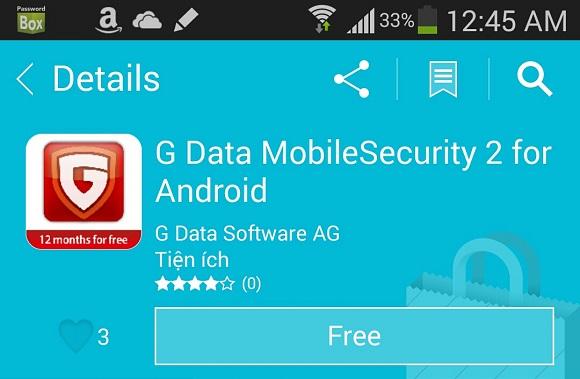 G-Data Mobile Security 2 for Android – Nhận key bản quyền 1 năm miễn phí