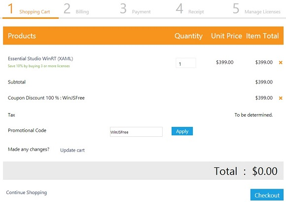 Syncfusion Essential Studio for WinRT (XAML) - Bản quyền trọn bộ miễn phí trị giá $399