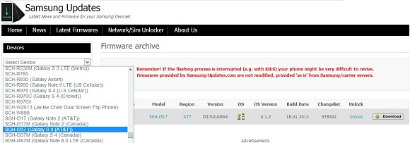 Unroot và phục hồi điện thoại Samsung về tình trạng xuất xưởng