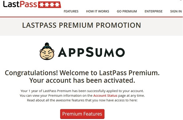 Đăng ký tài khoản LastPass Premium 19 tháng miễn phí