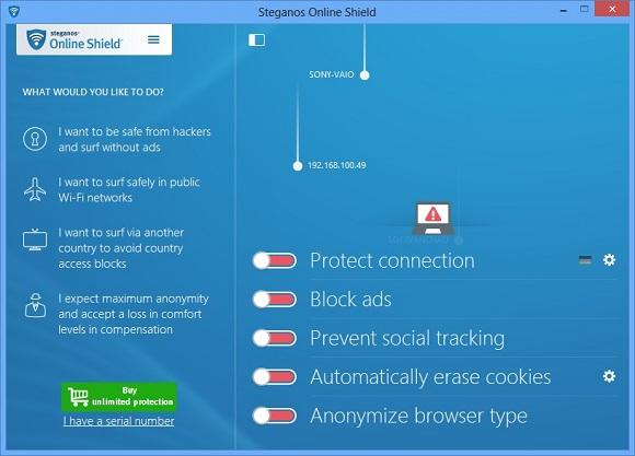 Steganos Online Shield VPN - Nhận key bản quyền 1 năm miễn phí