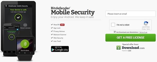 Bitdefender Mobile Security - Nhận key bản quyền 6 tháng miễn phí