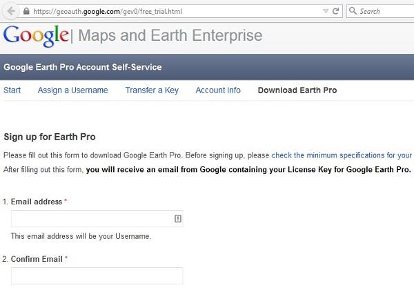 Google Earth Pro - Nhận key bản quyền miễn phí