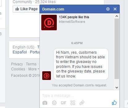 Tên miền .COM và .NET miễn phí trong một tiếng đồng hồ
