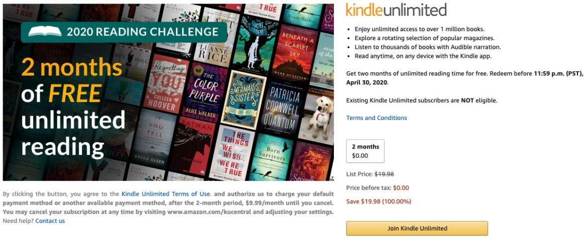 Đọc sách miễn phí Amazon-Kindle-Unlimited