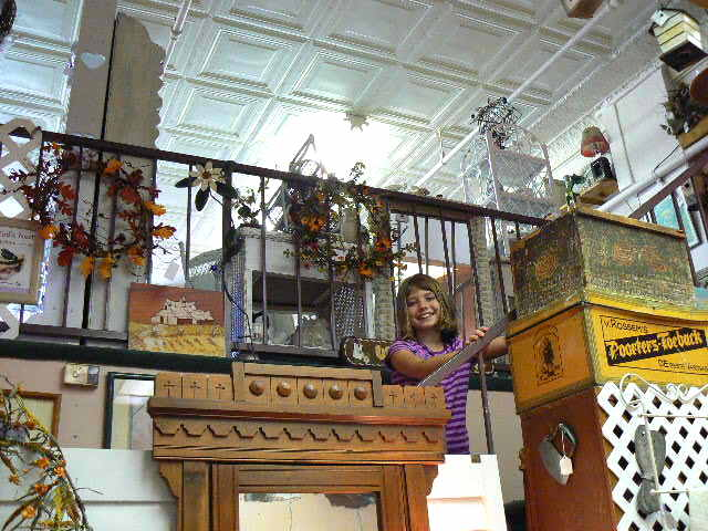 Hannah in Antique Shop