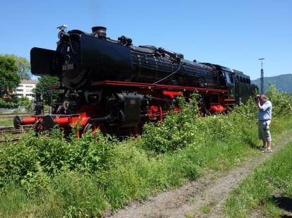 Eine der beiden historischen Dampfloks, die neulich in Lindau zu bewundern waren: Eine 01 519 und eine 01 202, falls das jemanden interessiert.
