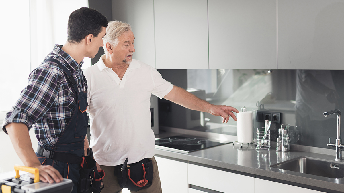 claims inspection in kitchen