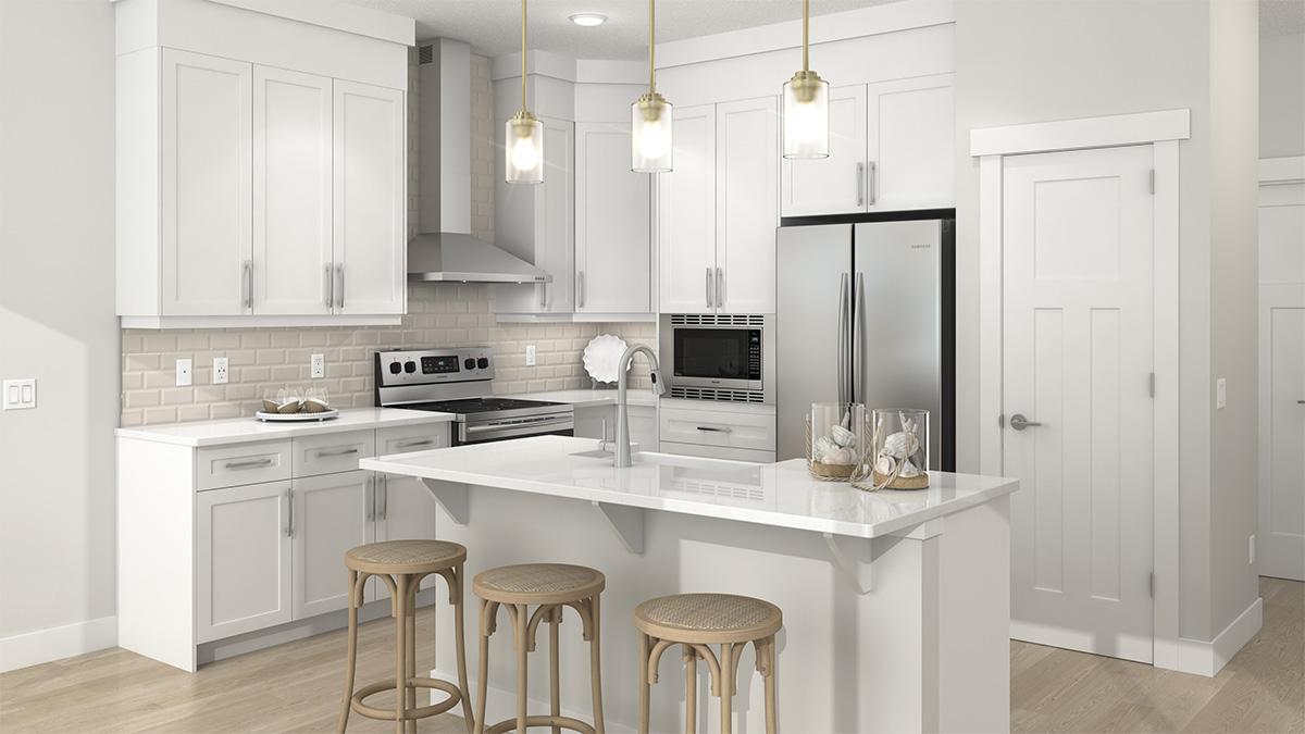 Daytona Homes' kitchen rendering