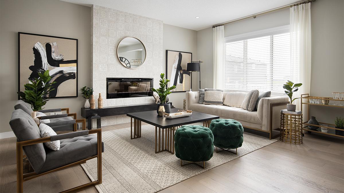 Shane Homes show home - living room
