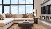 Broadview Homes living room and fireplace