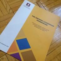 Ontario Leadership Framework brochure