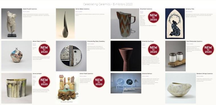 Celebrating Ceramics 2020 exhibitors