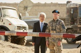 Doctor Who S10 - TX: 27/05/2017 - Episode: The Pyramid At The end Of The World (No. 7) - Picture Shows: Secretary General (TOGO IGAWA), The Commander (NIGEL HASTINGS) - (C) BBC/BBC Worldwide - Photographer: Simon Ridgway