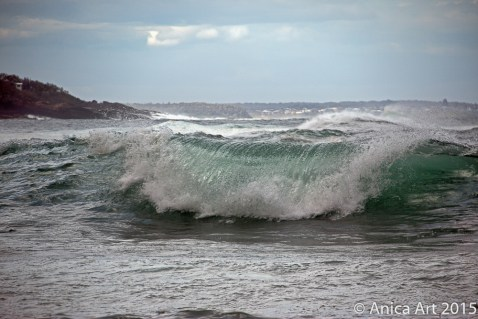 Emerald green wave at Bog Collers - Mollymook Beach