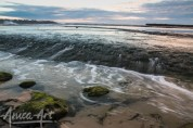 Water rushing off Flat Rock, Mollymook Beach