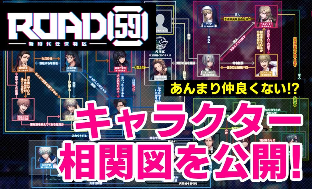 ROAD59キャラクター相関図