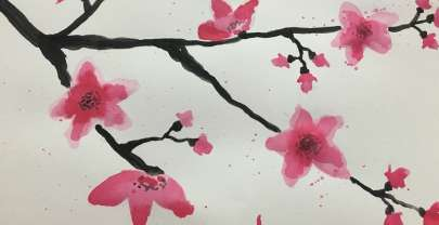 Watercolour Month Challenge Day 5 – Sakura Cherry Blossom