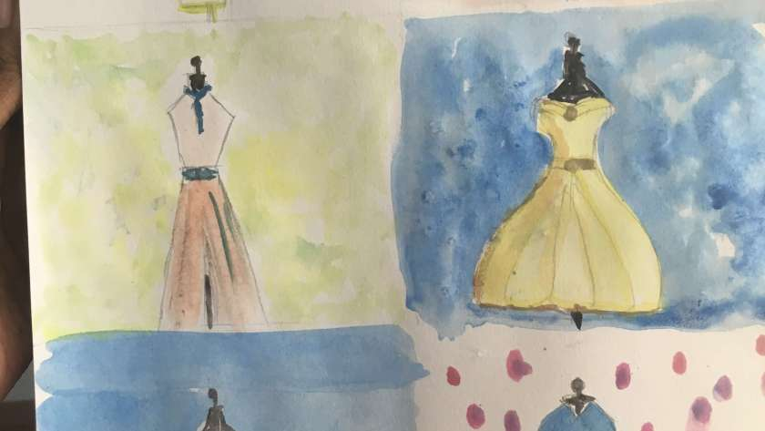 WaterColourMonth Challenge Day8 – Fashionista