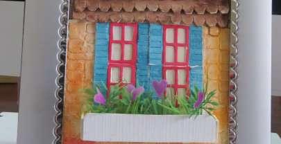 Vintage Home – Mixed Media watercolor