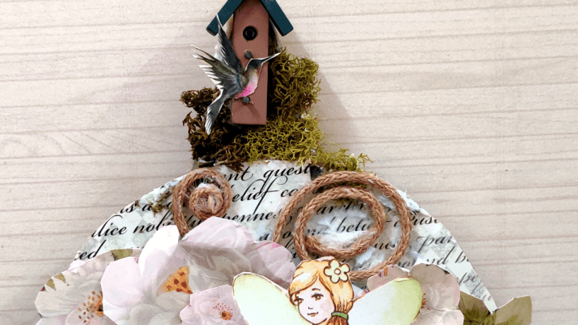 Easy wall hanging Fairy Garden