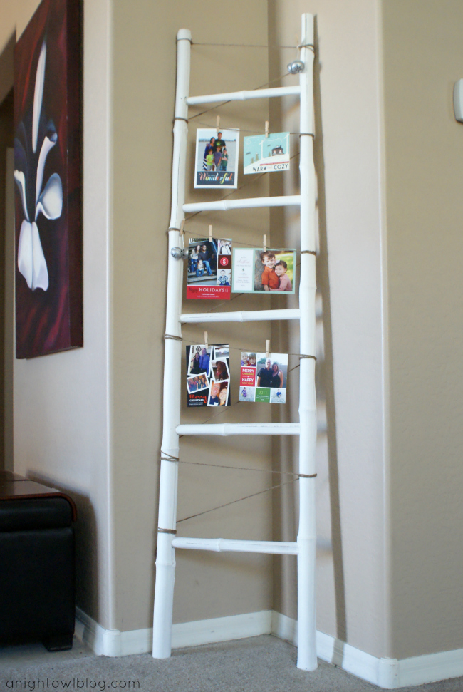 Project Home A Ladder Christmas Card Display A Night