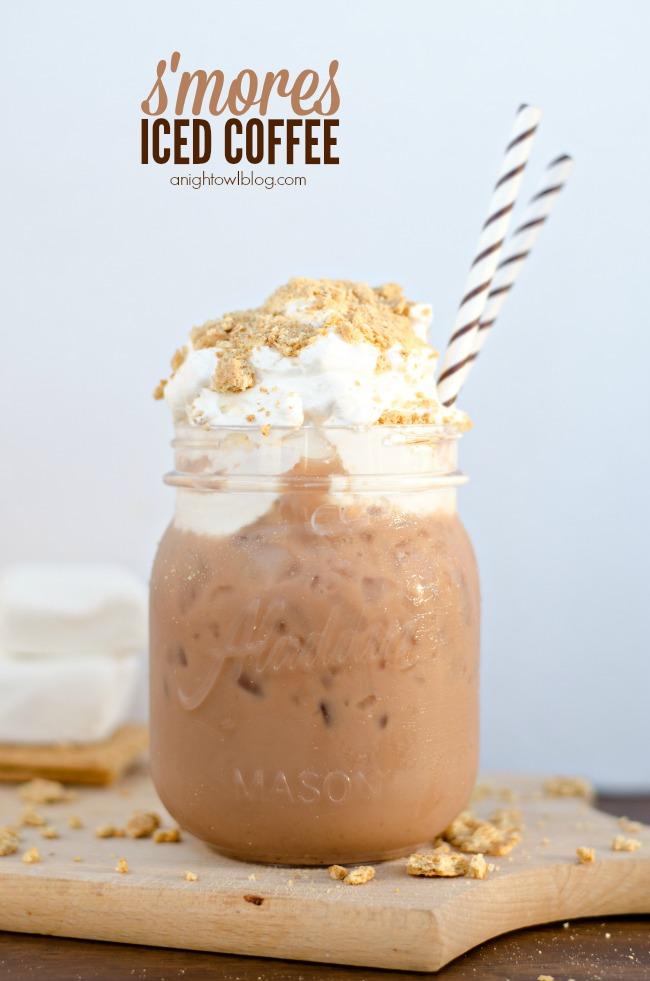 Smores Iced Coffee | anightowlblog.com