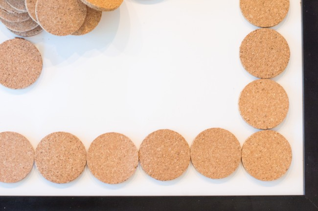 DIY Round Cork Art - modern and customizable art you can create on a budget!